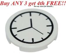 ☀️NEW LEGO White Wall Clock Black & White Smooth Finishing tile Time
