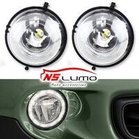 Exact Fit MINI Cooper 12-CREE LED Daytime Running Lights Fog Lamps Assembly Kit