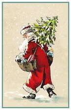 Victorian Father Christmas Santa Claus  # 711 Counted Cross Stitch Pattern