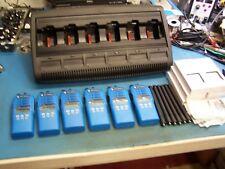 6 Motorola HT1250 UHF 450-512MHz  w/WPLN4197 Charger 128 CH Mint EMS Blue TEST