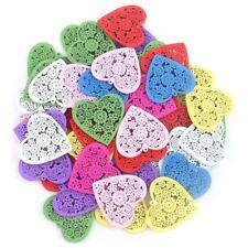 Crystal Love 50pcs Heart Shape Buttons for DIY Handmade Craft G8c4 A5n4