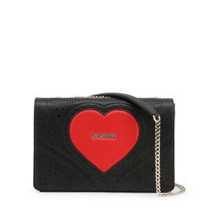 Love Moschino authentic Black red heart cross body shoulder Bag JC4216PPOAKC