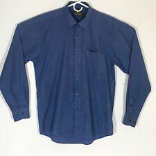 GIORGIO ARMANI Men's Size 17 33/34 Long Sleeve Button Up Blue Dress Shirt