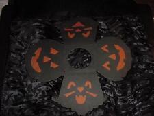 Vintage HALLOWEEN Paper LAMPSHADE w/2 CATS, 2 JOLs-Black w/Orange Inserts