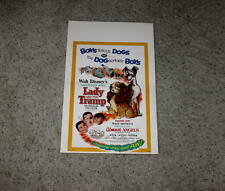 "LIMITED EDITION""DISNEY""LADY&THE TRAMP/ALMOST ANGELS""WINDOW CARD RE-RELEASE,1962!"