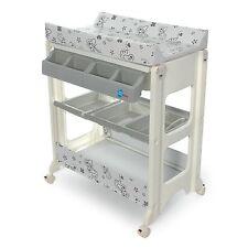 table à langer avec baignoire tuyau vidange rangement style babysun nursery neuf