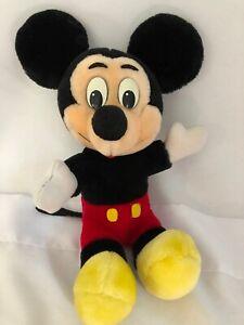 "Vintage Disneyland Disney World Mickey Mouse Hugging Plush 12"" while sitting"