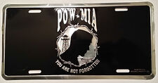 POW MIA HIGH QUALITY METAL LICENSE PLATE - MADE IN THE USA!