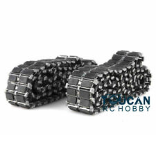 US Stock HengLong Leopard2A6 Challenger II Tank Metal Tracks W/ Single Rubber