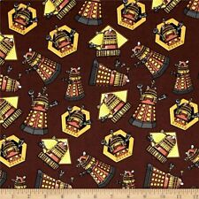Doctor who fabric Dr Who Daleks 100% Cotton By The 1/2 Yard Great For masks