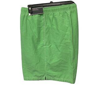 Roundtree & Yorke Men's Swimwear Swim Shorts Trunks 3XB 3XLB Lined Lime Green