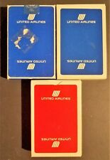 3 Decks United Airlines Advertising New Old Stock Playing Cards Aviation History