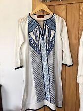 Khaadi Pret Kurta White And Blue