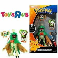 Pokemon Evolution Set Decidueye, Dartrix & Rowlet Toys R Us Exclusive Figure New