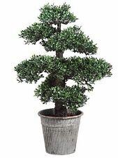 "24"" ARTIFICIAL BONSAI TREE PLANT TOPIARY ARRANGEMENT IN OUTDOOR GARDEN PATIO DEN"