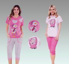 Ladies Pyjama Set Short Sleeve & 3/4 Shorts 8•10•12•14