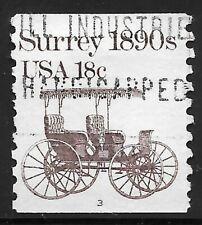 U.S. Scott #1907 18c Surrey Stamp USED PS1 Plate #3 VF Cat. $8.00