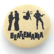 The Beatles Beatlemania Rock Band Music Memorabilia Button Pin L270