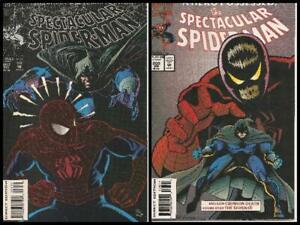 °THE SPECTACULAR SPIDER-MAN #207 & 208 SCREAMING CRIMSON 1 bis 2°Marvel 1993