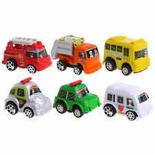 Children Boy Mini Cars Toy Six Kinds-taxi Firetruck Ambulance Police Bus Gifts