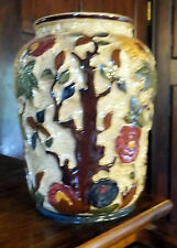 "H J WOODS BURSLEM ENGLAND - Vintage Large Hand painted vase  ""  Indian tree """