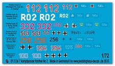 1/72 ep 2136 7 verschiedene Panther Kampfpanzer No 2