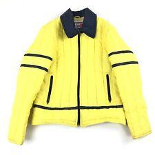 Vintage '80's Jean Claude Killy Ski Jacket Yellow Puffer Womens Size 14 Alpine