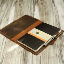 """Leather Moleskine Classic Cover Larger size 5 x 8.25"""" Notebook Dairy Cover"""