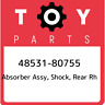 48531-80755 Toyota Absorber assy, shock, rear rh 4853180755, New Genuine OEM Par