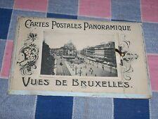 Old Postcard 190? Cartes Postales Panoramique Vues de Bruxelles Front Opens