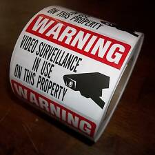 CCTV SECURITY SYSTEM VIDEO CAMERA WARNING STICKERS LOT