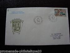 TAAF carta 8/1/92 - sello Yvert y Tellier nº167 (cy6)