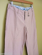 NWT B by Burton Hot Give Peace A Street Pants Dark Sand Wide Leg Trousers 6 $82