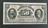 Mexico / Sonora 50 Centavos 1915  banknote series G Uncirculated world banknote