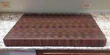 "Cutting Board 3"" Thick Walnut Butcher Block End Grain 24 X 36 Dark Brown Wood"