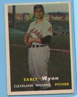 1957 Topps Baseball Card #40 Early Wynn - Cleveland Indians (EX)