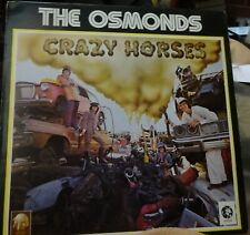 "THE OSMONDS uk LP Record ""CRAZY HORSES"""