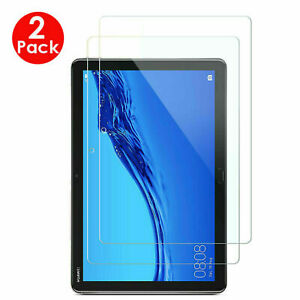 2PC 100% Genuine TEMPERED GLASS Screen Protector Huawei MediaPad T3 9.6 T5 10.1""