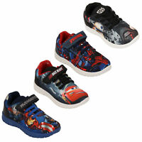Boys Disney Cars Trainers Kids Spiderman Race Ready Star War Avengers Shoes