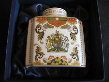 ROYAL WORCESTER PORCELAIN TEA CADDY COMM' QUEEN'S DIAMOND JUBILEE 2012 MIB