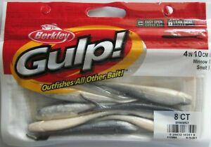 """BERKLEY GULP!  4"""" Minnow (8/Ct Pack) - Smelt"""