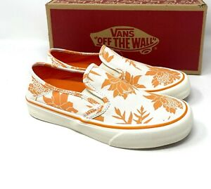 Vans Island Floral Slip On SF White Canvas Low Top Sneakers Women's VN0A3MVD42G