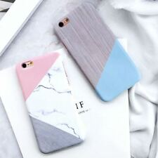 Shockproof Marble Granite Stone PC Hard Slim Back Case Cover For Various Phone