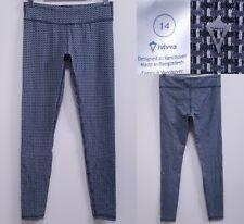 IVIVVA by Lululemon Blue Gray Weave Yoga Skinny Leggings Size 14 Girls Pants