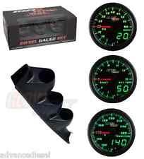 00-06 Chevy Duramax GSMaxTow DVDiesel Gauge Set-Boost,Pyro,TransTemp&Black Pod