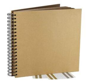 Kraft Guest Book Photo Booth Album Spiral Scrapbook Wedding Party (40 Sheets)