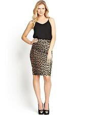 Very/Definitions Animal Print Pencil Skirt 18  Brown/Multi