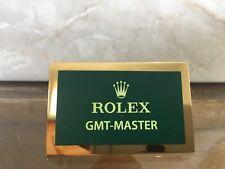 Rolex Original Display Tag GMT-Master 4,5x3cm Italian Targhetta Originale Rolex