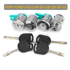 8pcs Ignition Barrel Door Locks + Boot Lock Sets For Ford Falcon EA EB ED EF EL