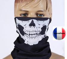 Cache cou foulard bandeau cagoule squelette moto velo manifestation activité